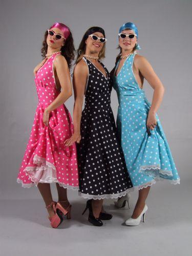 69d505a7d71b29 verhuur - carnaval - sixties and seventies - Kinderen - Rock en Roll dames  bollen
